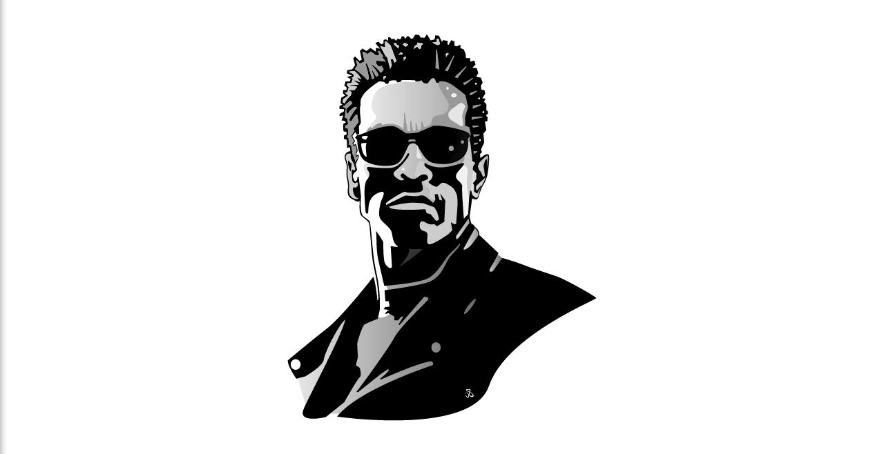 Terminator Girl Clip Art.