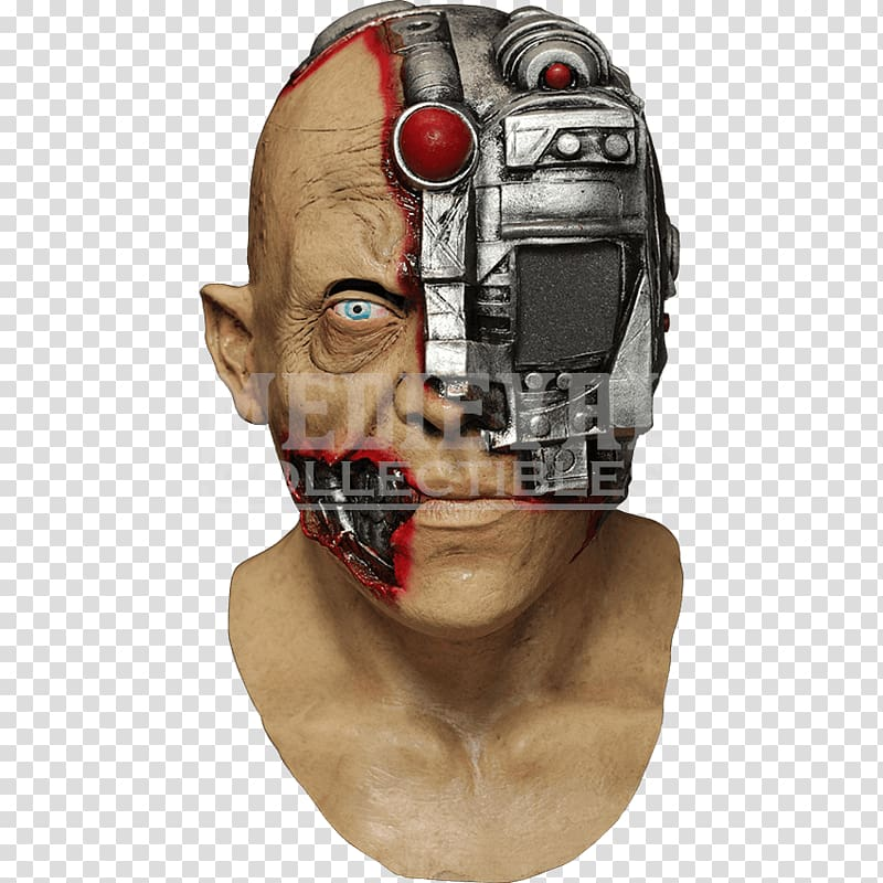 Terminator Cyborg Mask Halloween costume, Cyborg transparent.