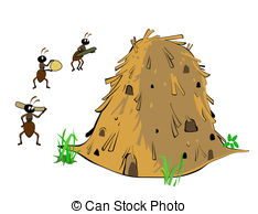 Termite hill Stock Illustrations. 18 Termite hill clip art images.