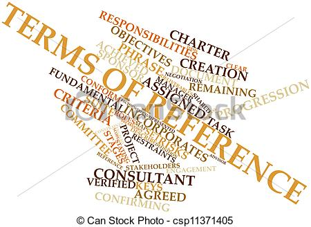 Stock Illustration of Terms of reference.