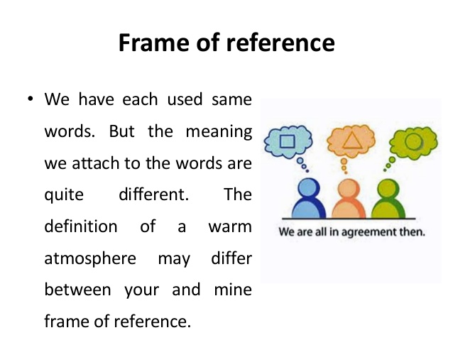 Frame Of Reference.