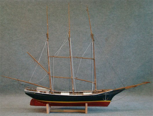 "273: Ship Model Of A Tern Schooner, 69"" X 47"" : Lot 0273."