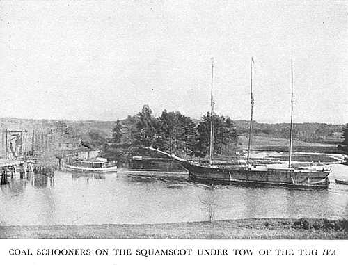 A tern schooner on the Squamscot River.