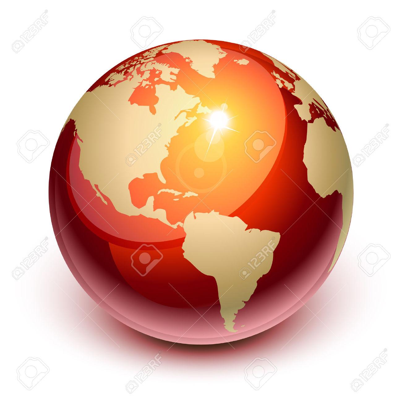Terra Rossa Da Nord E Sud America Clipart Royalty.
