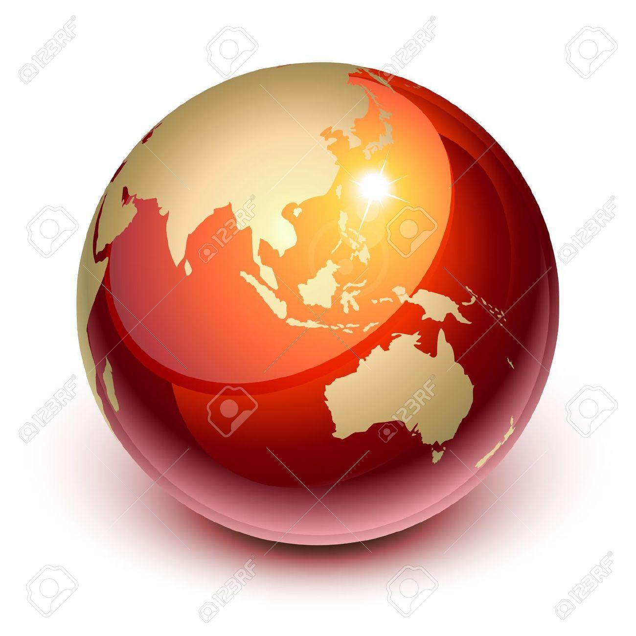 Terra Rossa Da Asia E Australia Clipart Royalty.