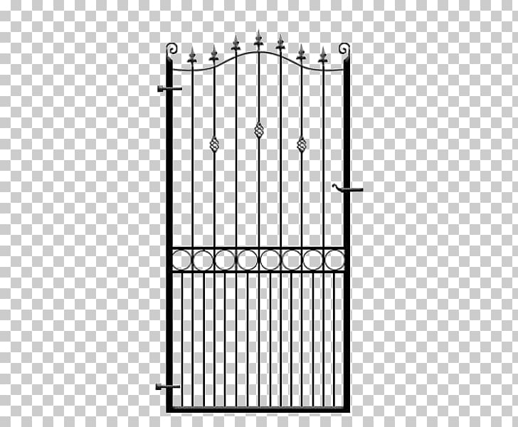 Wrought iron Terrace garden Gate Fence, Wrought Iron Gate.