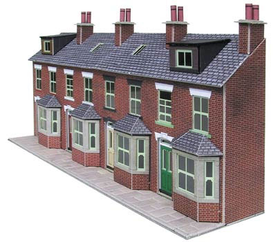 Terraced house clipart.