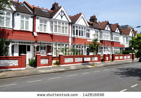 Terraced Houses Stock Photos, Royalty.
