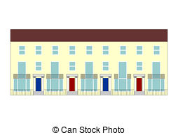 Terraced house Stock Illustrations. 1,099 Terraced house clip art.