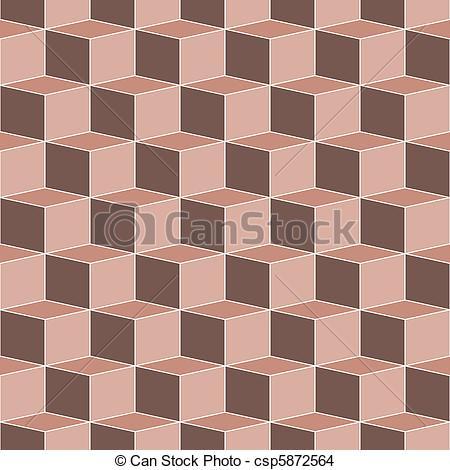 EPS Vector of seamless terra cotta cubes.