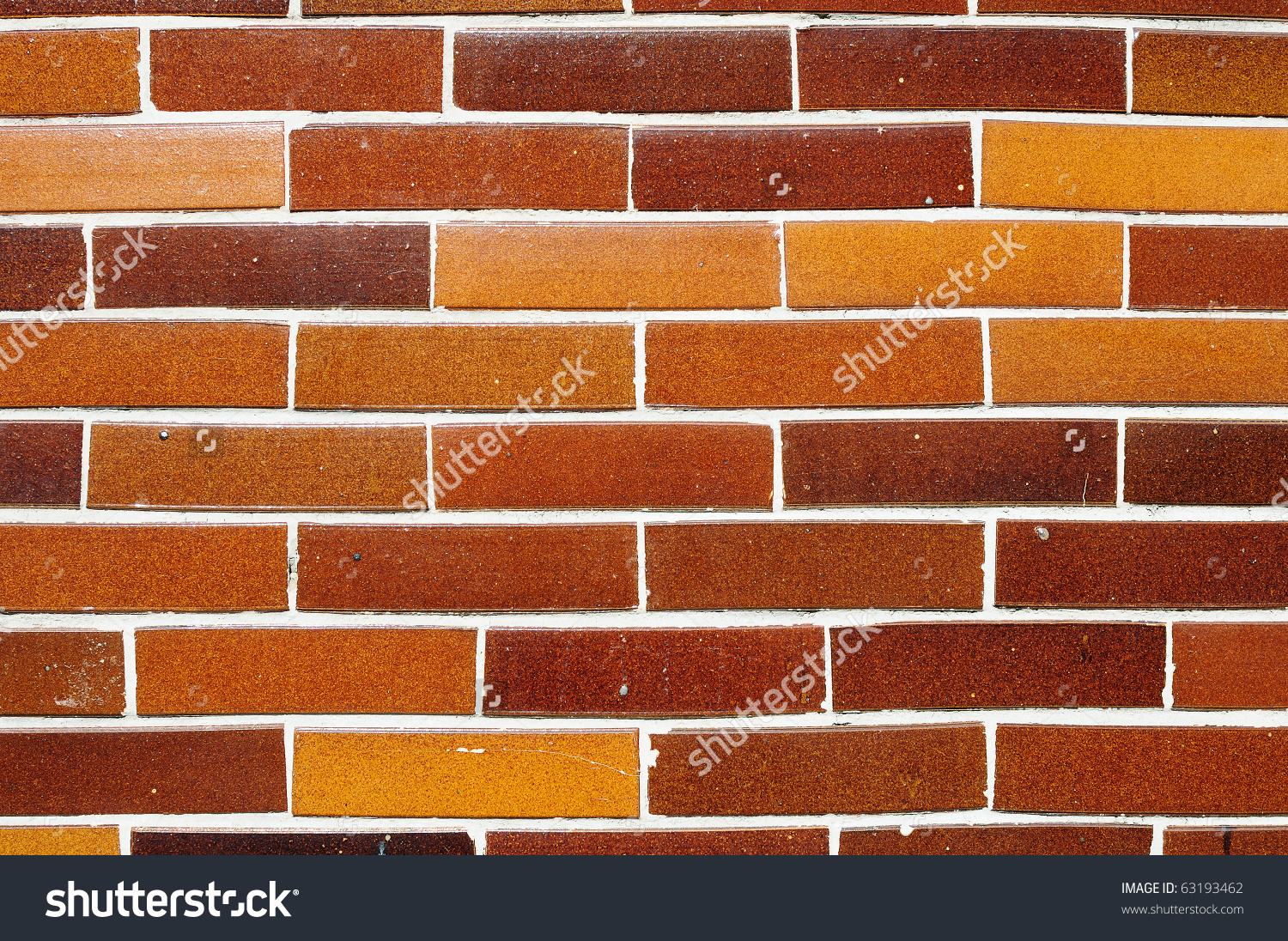 Fragment Of Wall Built Out Of Terracotta Bricks Stock Photo.