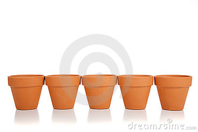 Terracotta Flower Pot Clipart.