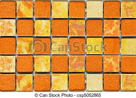 Stock Images of Terracotta tiles in yellow and orange color.