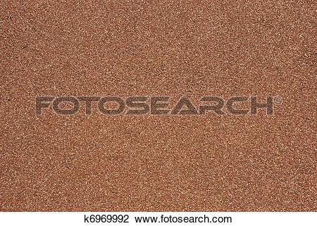 Stock Photo of Terra Cotta Color Mineral Plaster k6969992.