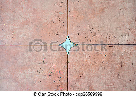 Stock Photographs of Decorated background tiles terracotta color.