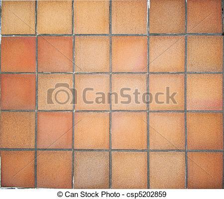 Stock Photographs of Terracotta floor tiles.