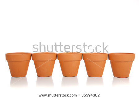 Terra Cotta Pot Stock Images, Royalty.