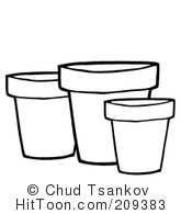 Pots Clipart #209354: Terra Cotta Pots by Hit Toon.