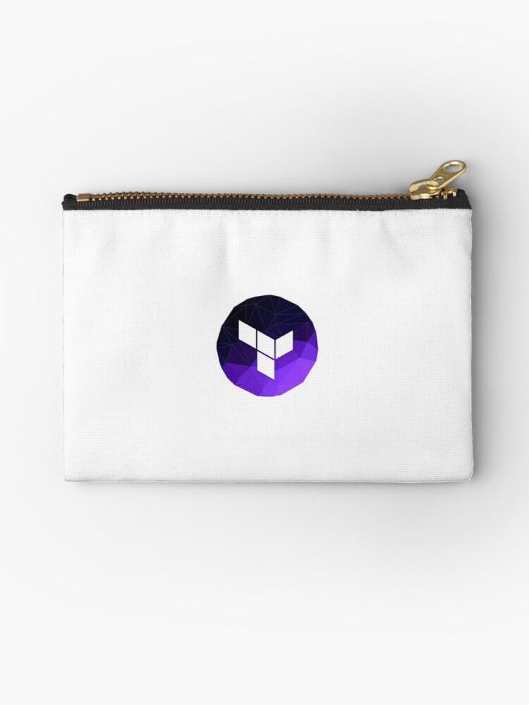 \'Terraform Logo\' Zipper Pouch by Programming Swag.