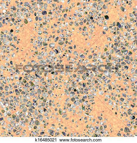Clipart of Terrazzo. Seamless texture. k16485021.