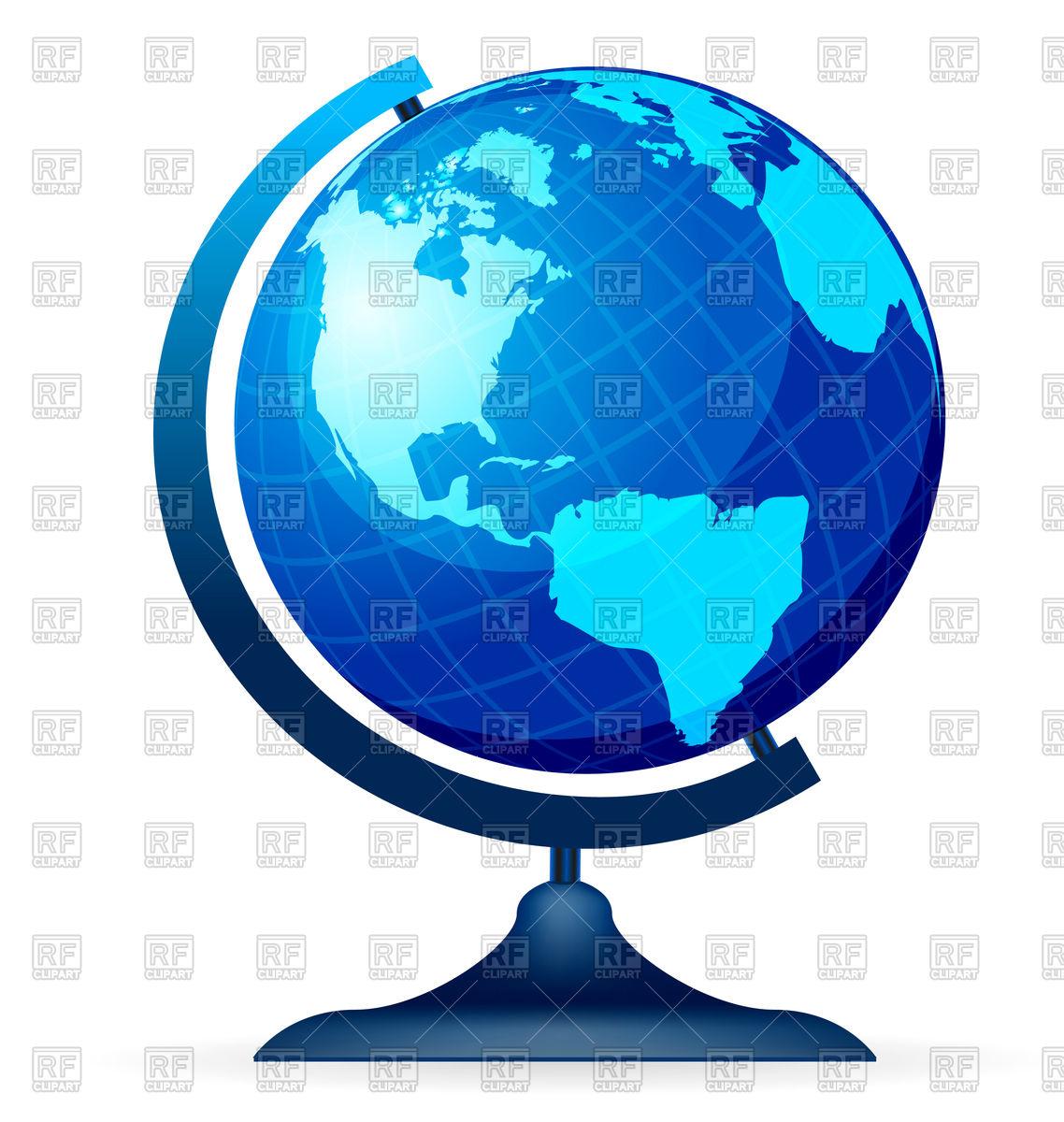 Terrestrial globe Vector Image #73994.