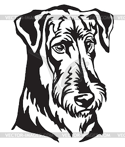Decorative portrait of Dog Airedale Terrier.