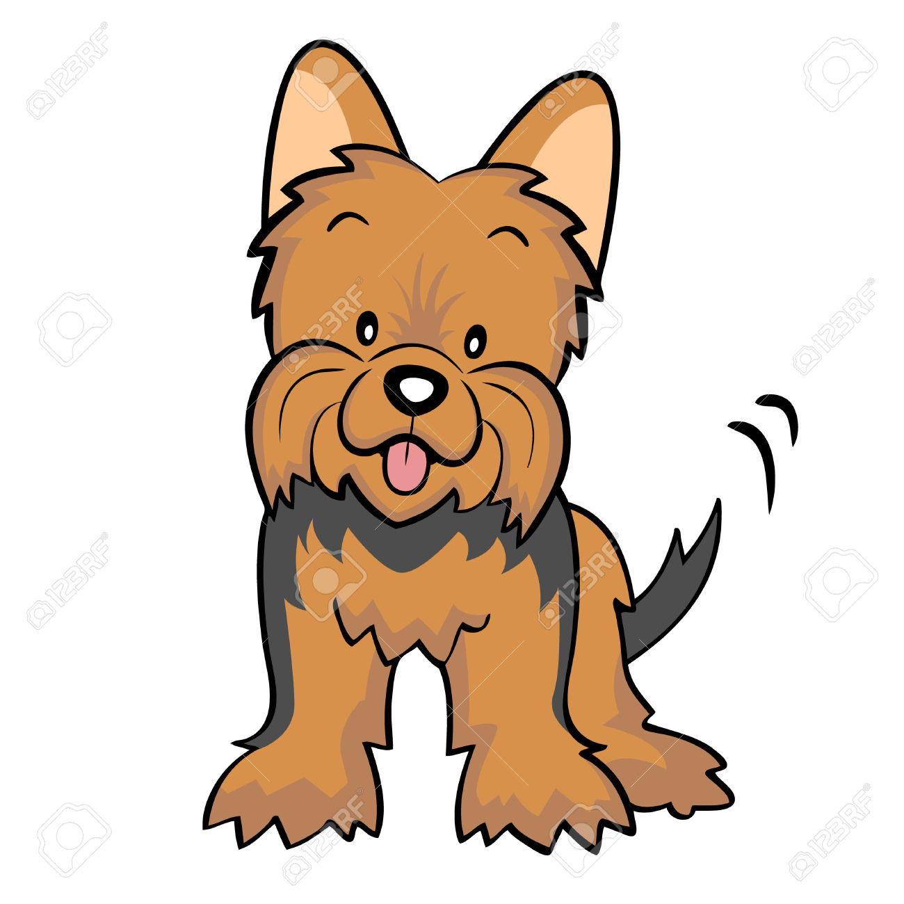 Yorkie Clipart.
