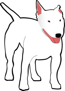White Bull Terrier Clip Art at Clker.com.