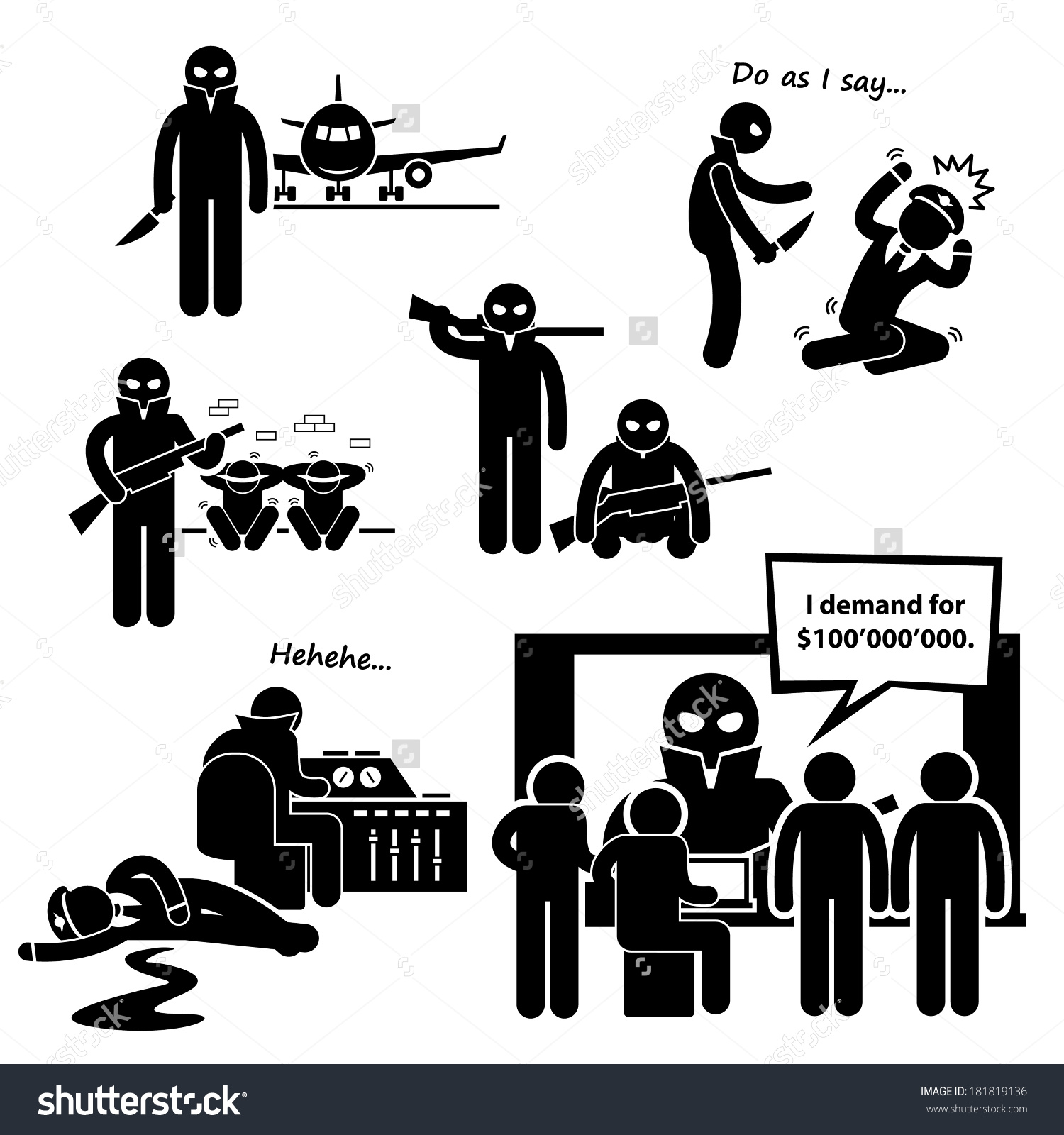No terrorists clipart.