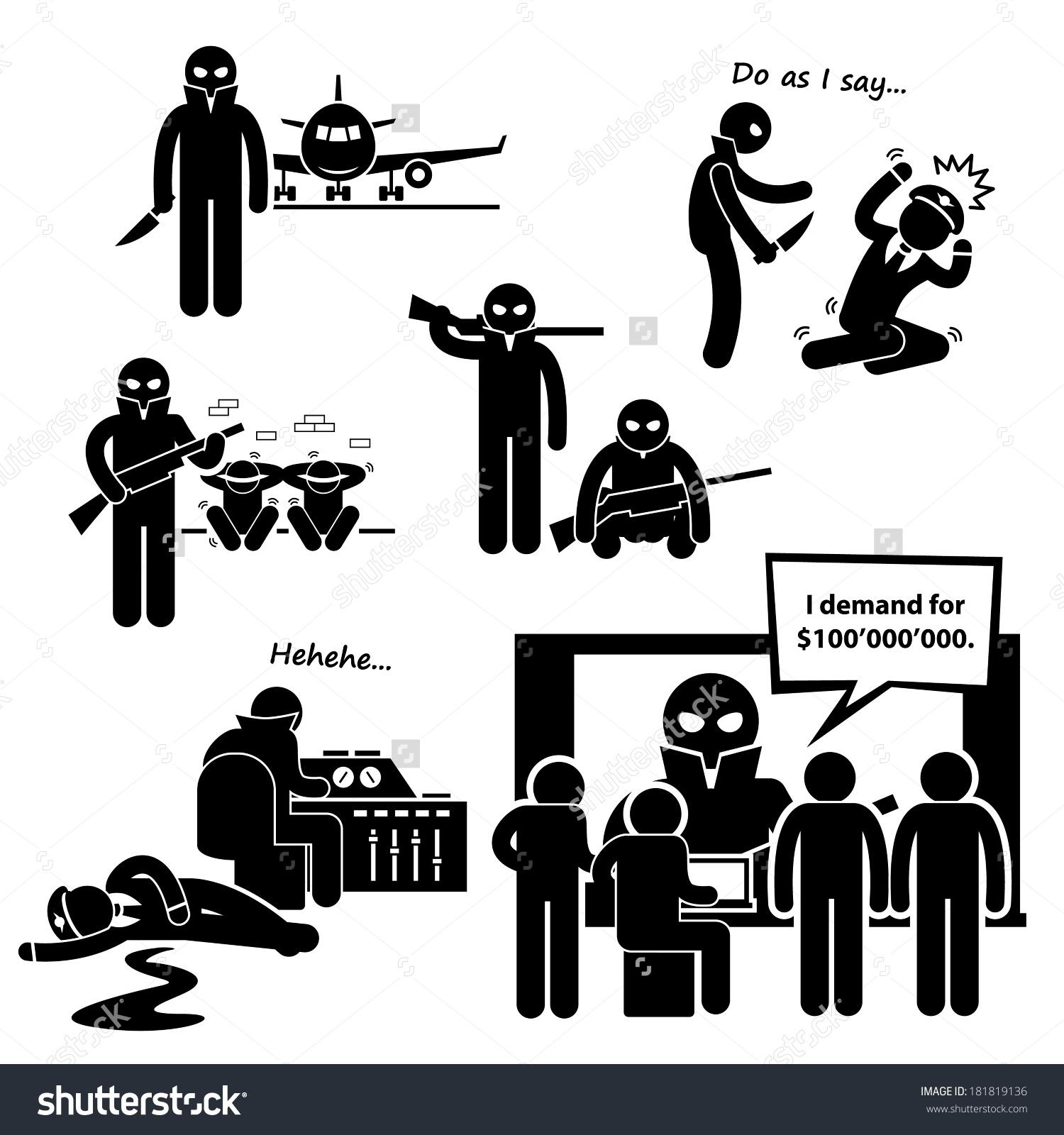 No terrorists clipart.