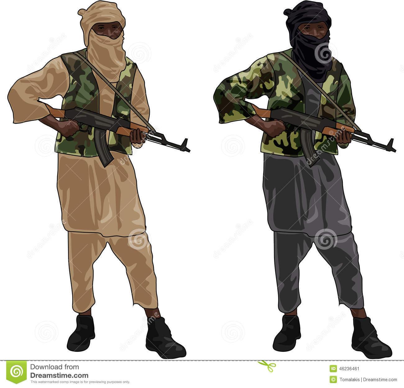Muslim terrorist clipart.