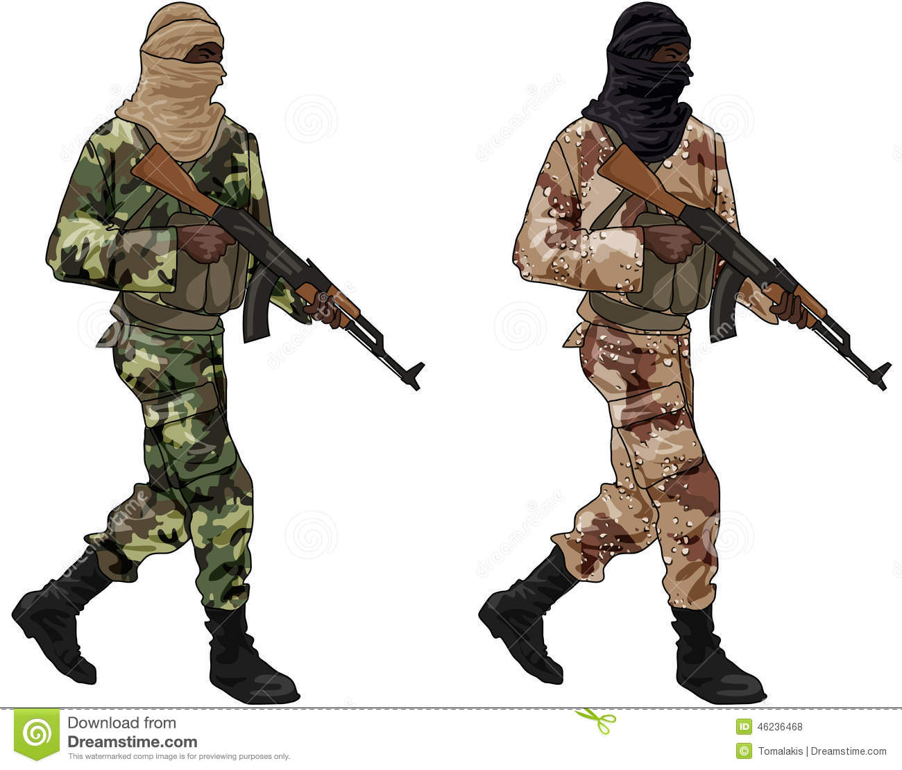 Terrorists clipart.