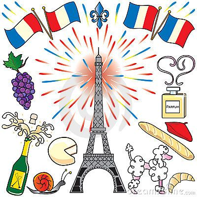 Paris, France clip art party by Terry Katz, via Dreamstime.