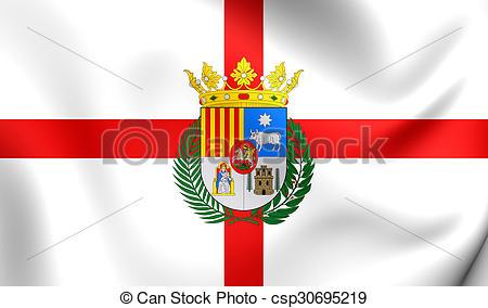 Clipart of Flag of Teruel Province (Aragon), Spain..