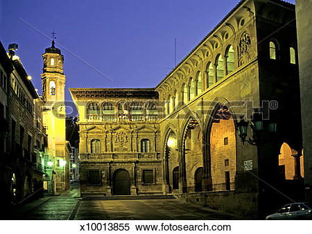 Stock Image of Lonja of Alcañiz, Teruel x10013855.