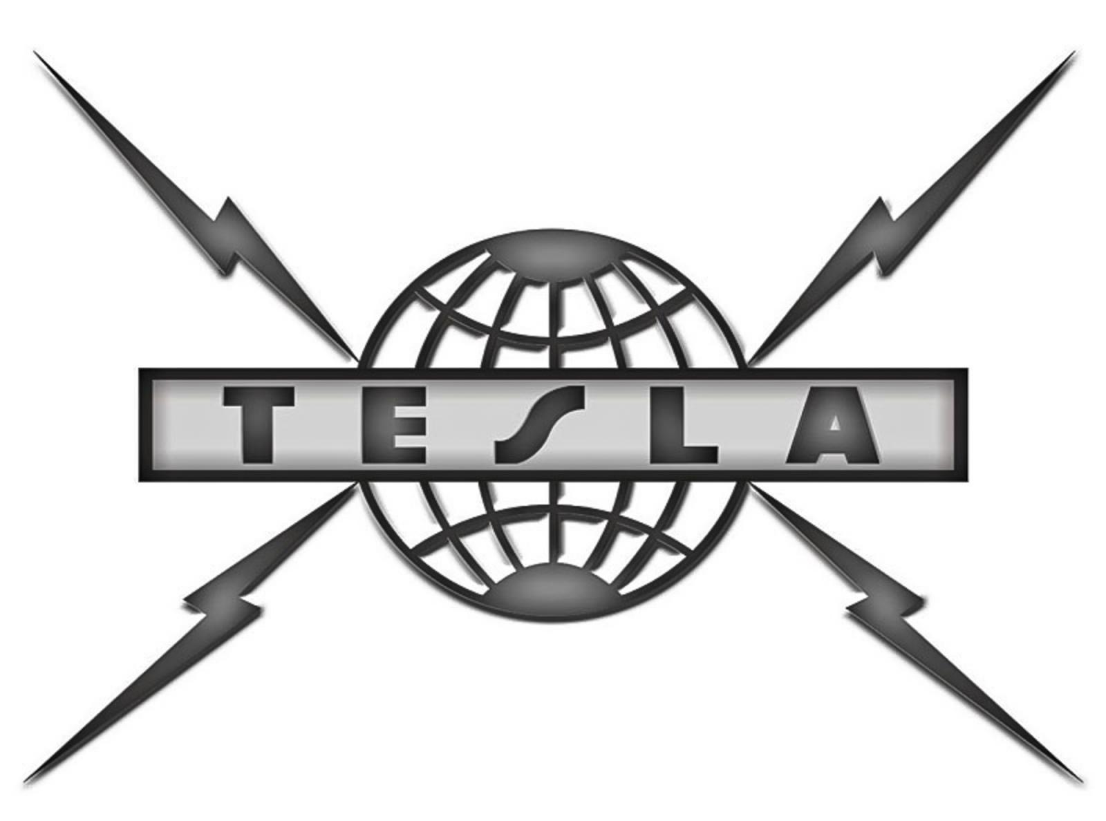 The logo of the American band named after Tesla.