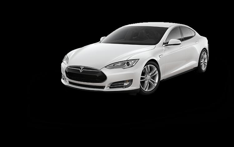 Tesla Model S Red transparent PNG.