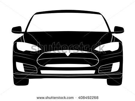 Tesla car clipart.