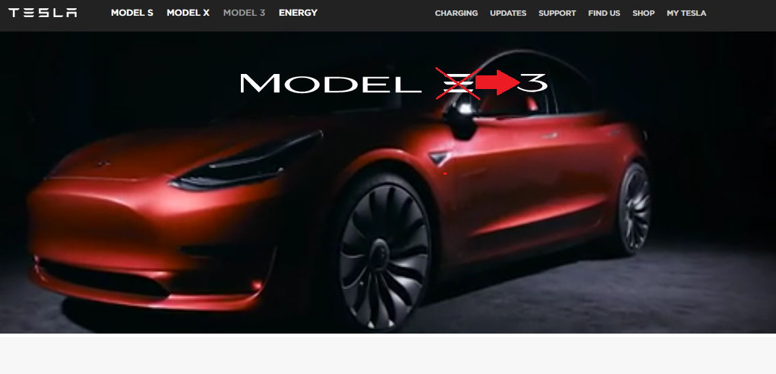 Tesla changes the branding of the Model 3 to remove the \'3.