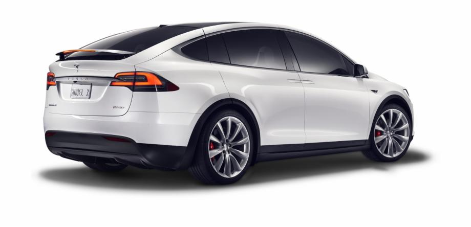 Tesla Model X From Side Transparent Background Car.