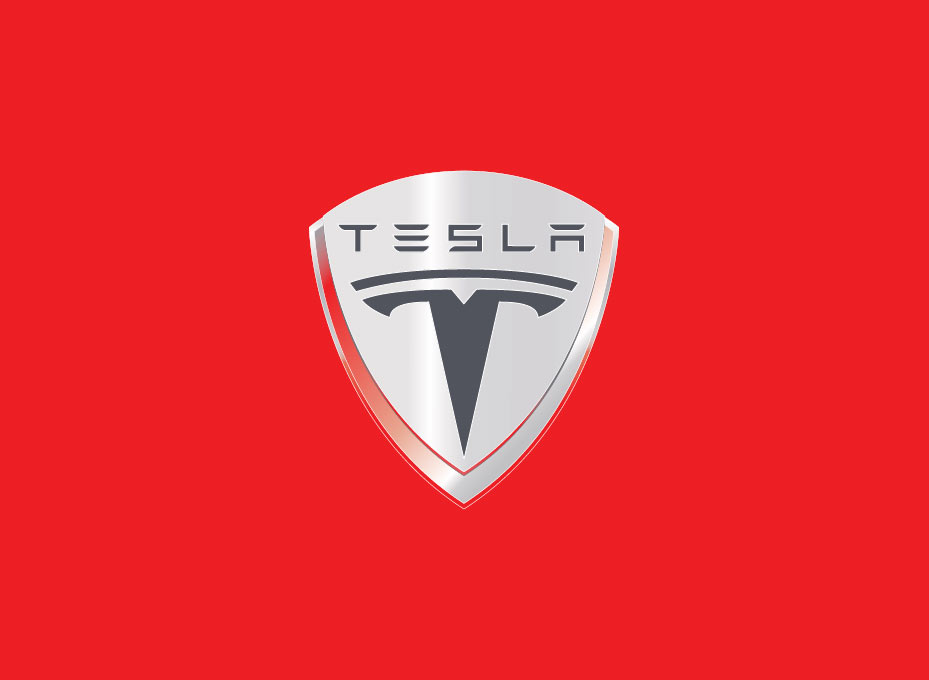 The Tesla Motors logo is a cross section of an electric motor.