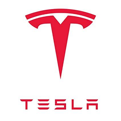 """6"""" Tesla Motors Logo Vinyl Decal Repositionable Sticker."""