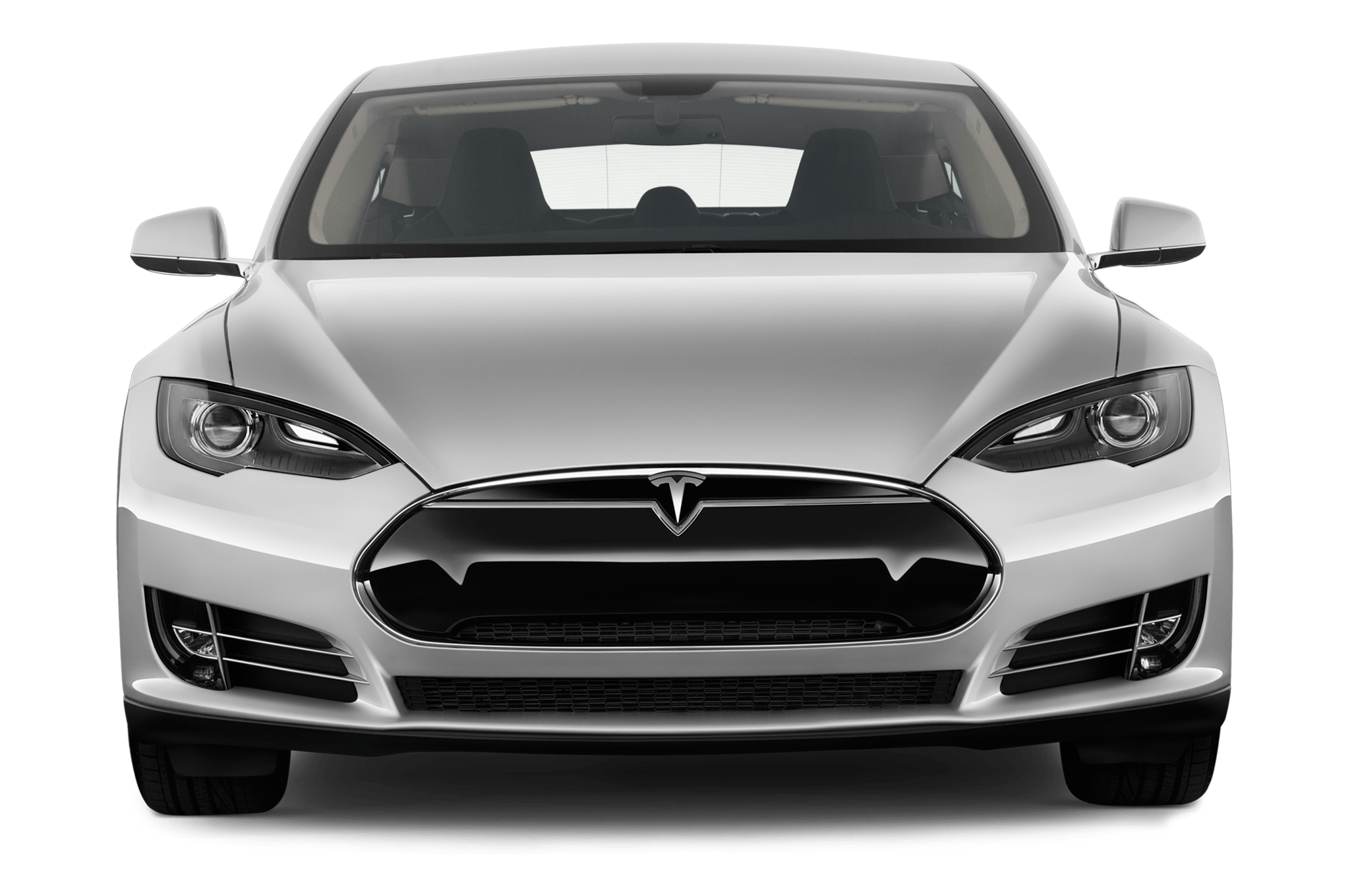 Tesla Model S Front transparent PNG.
