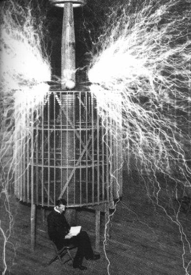 A Tesla coil is an electrical resonant transformer circuit.