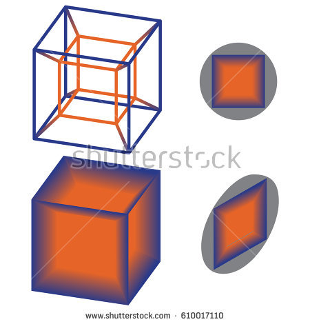 Tesseract Stock Images, Royalty.
