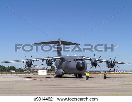 Stock Photography of Airbus Defense and Space A400M flight test.