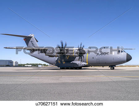 Stock Photography of Airbus Defence and Space A400M flight test.