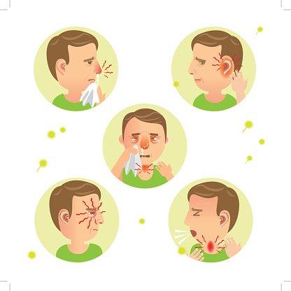 Flu clipart allergic rhinitis, Flu allergic rhinitis.