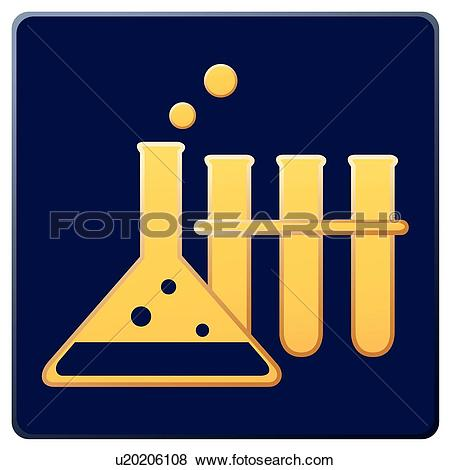 Clip Art of test tube, icons, glass tubes, glass tube, Erlenmeyer.