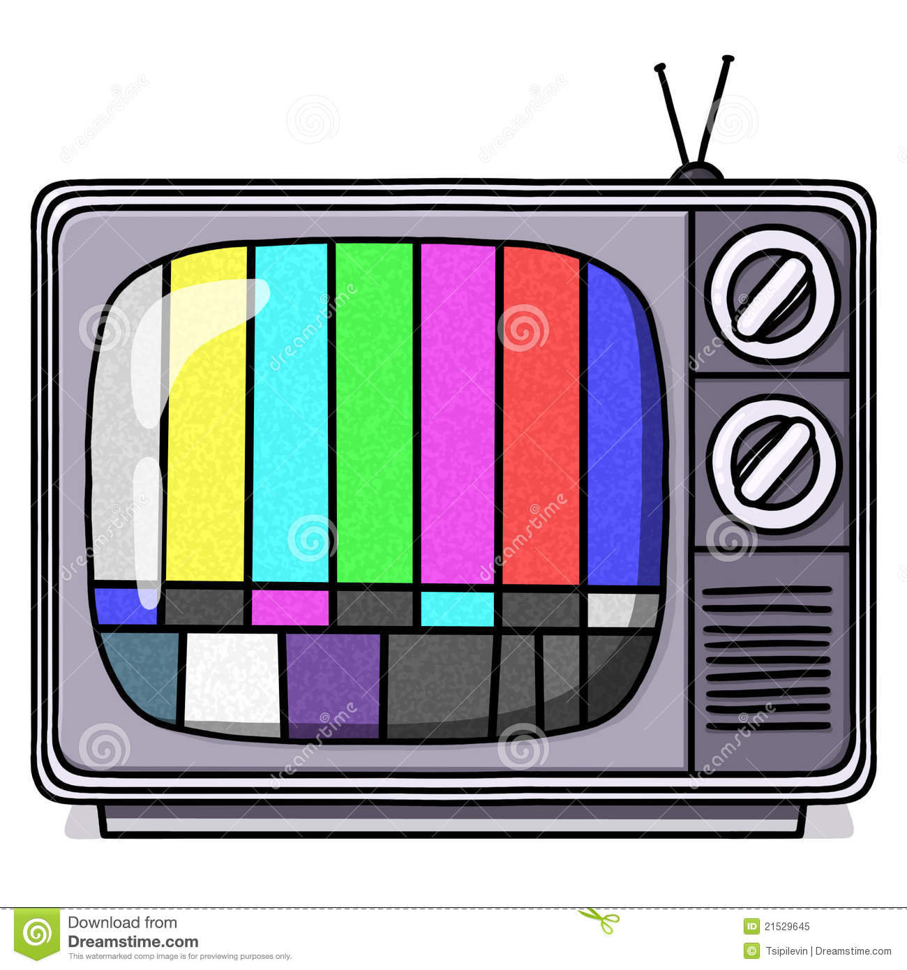 Tv test pattern clipart.
